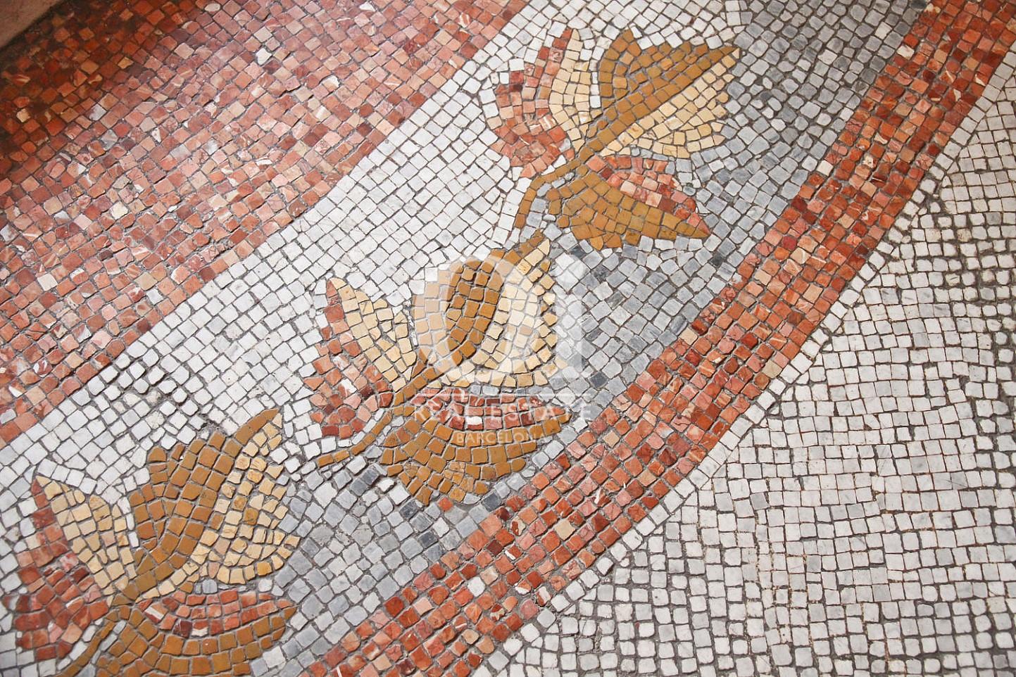 Impresionantes mosaicos en los techos-apartamento de lujo-Eixample Barcelona
