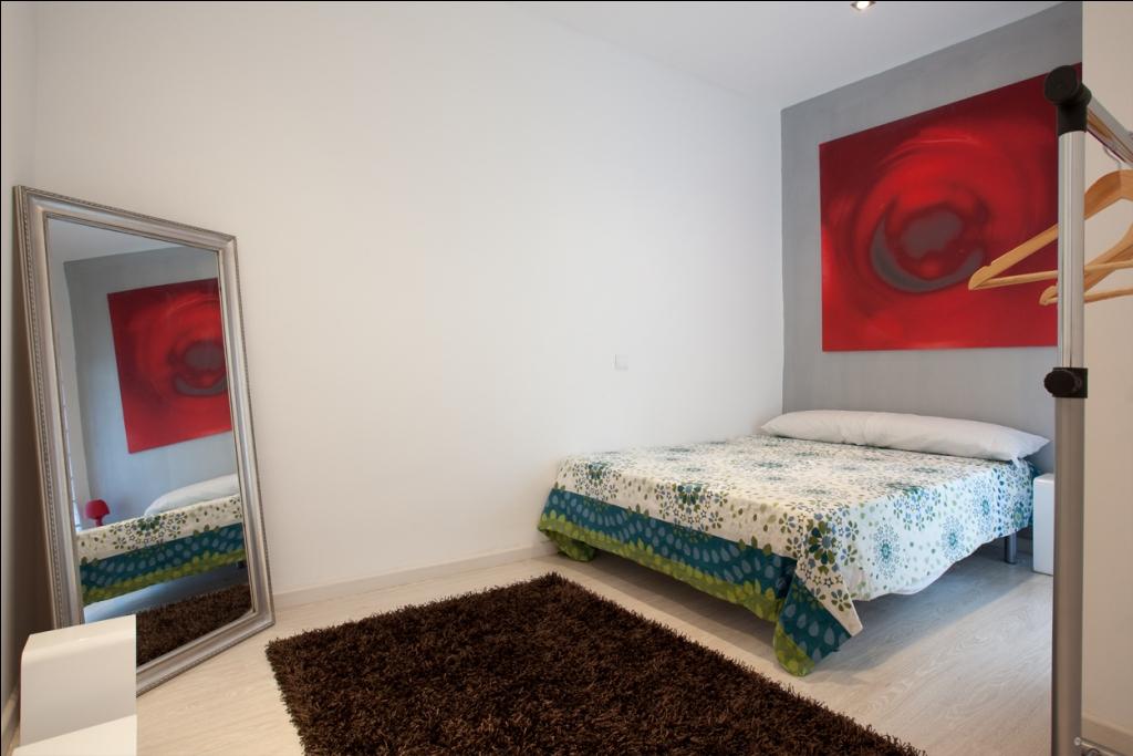 Schlafzimmer in Luxus-Appartement zur Miete für Studenten in der Calle Guadiana in Barcelona