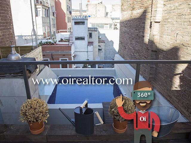Fabuloso ático dúplex en venta con piscina en Gràcia, Barcelona