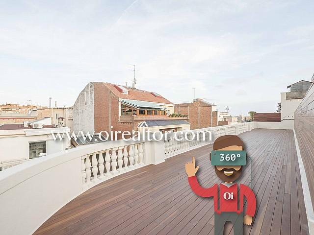 Espectacular ático en venta con terraza de 130 m2 en Sarrià