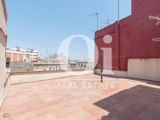 vista terraza en estudio para alquilar en Barcelona, Raval