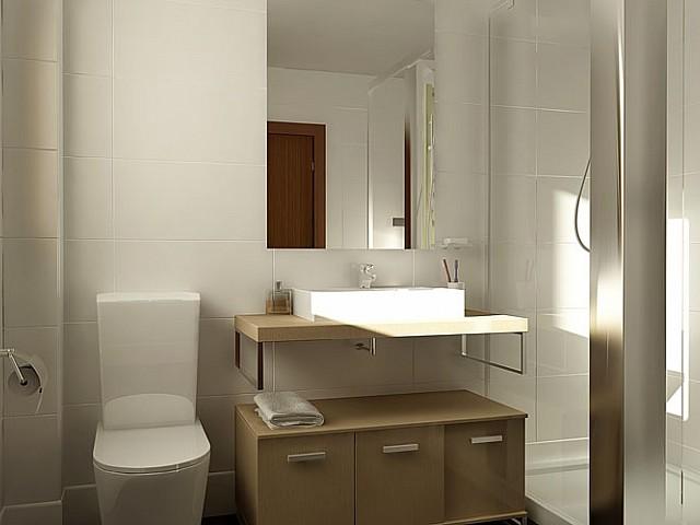 Salle de bain complète dans un luxueux appartement en vente à Barcelone