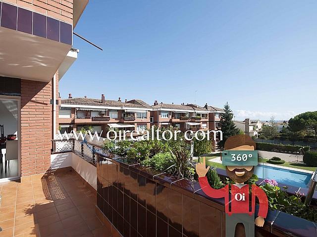 Gran apartamento en venta cerca de la playa en Cabrera de Mar, Maresme