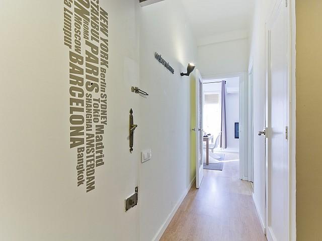Couloir dans un appartement de rêve à louer à Poble Sec