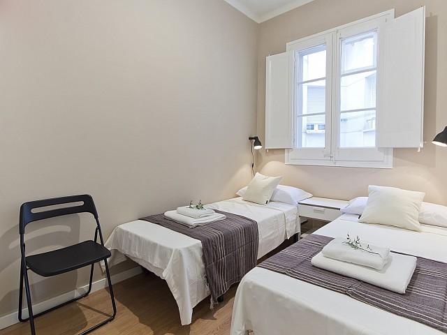 спальня в квартире в аренду в барселоне