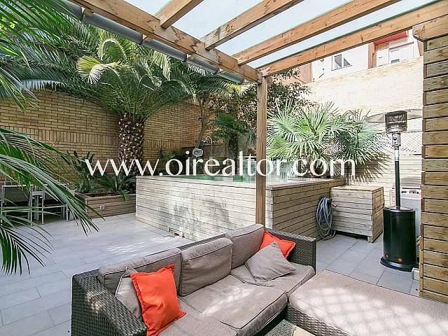 Magnifica  planta baja de diseño en venta con terraza de 75 m2 en Sagrada Familia